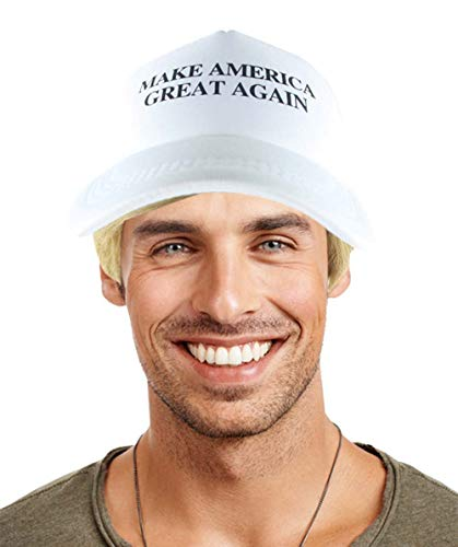 Mr. US President II Wig Wig with White Cap, Blonde Adult HM-156 -