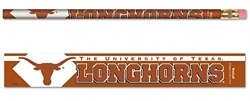 (Texas Longhorns 6-Pack Team Logo Pencil Set)