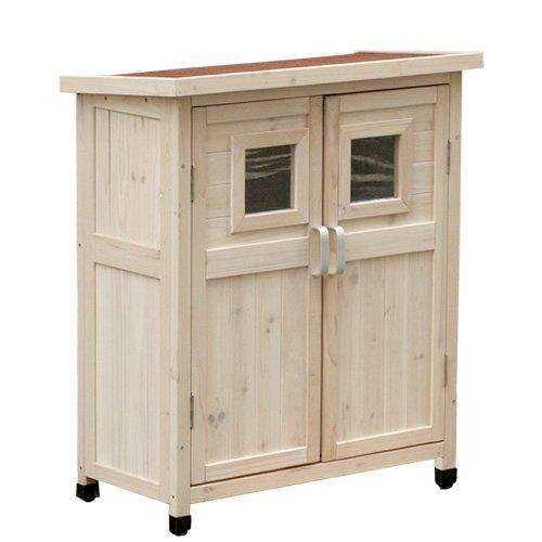 ホワイト/ベランダ収納庫 ベランダ 収納庫 収納 物置 木製 ウッド 80×40×92 ルーバー 小型 ガーデニング ガーデン 収納庫付き コンパクト 庭 ホワイト ブラウン B00IYIDFDO 21800 ホワイト ホワイト