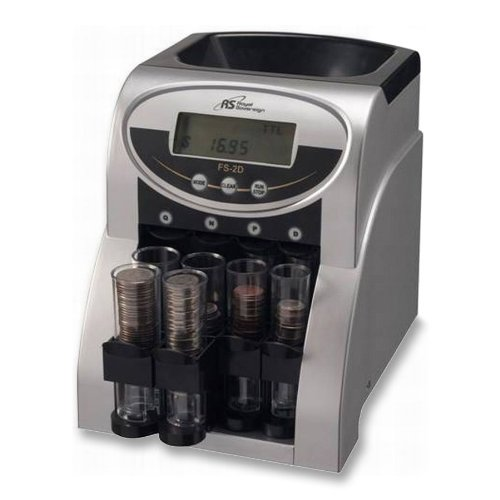 Royal Sovereign FS-2 Fast Electronic Coin Sorter, Pennies Through Quarters by Royal Sovereign