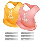 PandaEar Set of 2 Cute Silicone Bibs for Babies