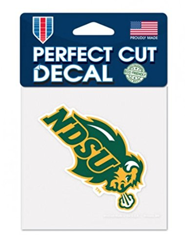 NCAA North Dakota State University Bison 4 x 4 inch Color Perfect Cut Decal