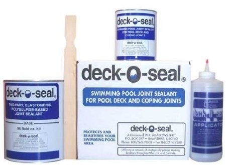 Deck-O-Seal Two-Part, Elastomeric, Polysulfide-Based Pool Joint Sealant 96 oz. Kit Gray