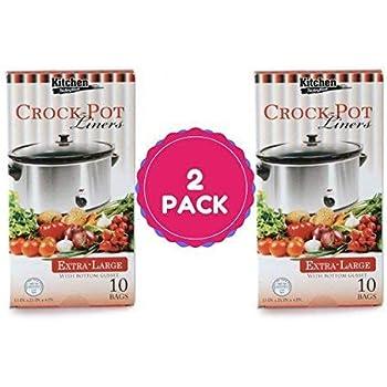 Multi-Use Large Slow Cooker - Crock Pot Liner Bags Fits 7 - 8 Quart Crock Pot 20 Ct