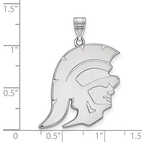 10k White Gold LogoArt Official Licensed Collegiate University of Southern California (USC) XL Pendant