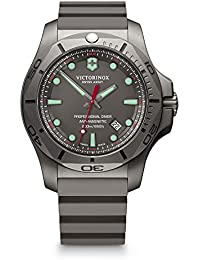Mens I.N.O.X. Titanium Swiss-Quartz Diving Watch with Rubber Strap, Grey, 22 (