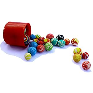 Bouncy Rubber Ball Set of 25 Assorted Colors and Sizes - Super Bounce Ball Party Favor 25 Count for Kid's Birthday Party   BBQ   Beach   Camping - Mini Bouncing Rubber Balls Variety Pack