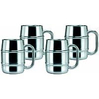 4-Set Old Dutch Stainless Steel Mug