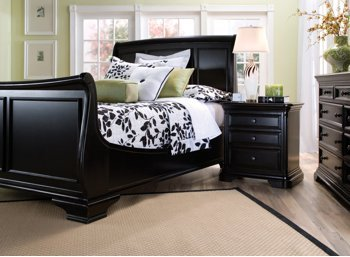 black bedroom sets king. Reflections Black Cherry 4Pc King Bedroom Set Amazon com  Kitchen