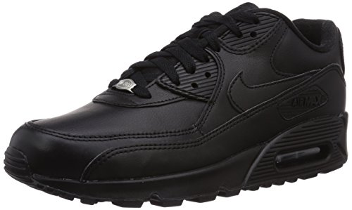 Nike Men's Air Max 90 Leather Running Shoe (9 D(M) US, Black/Black) (Nike Air Max Classic Bw)