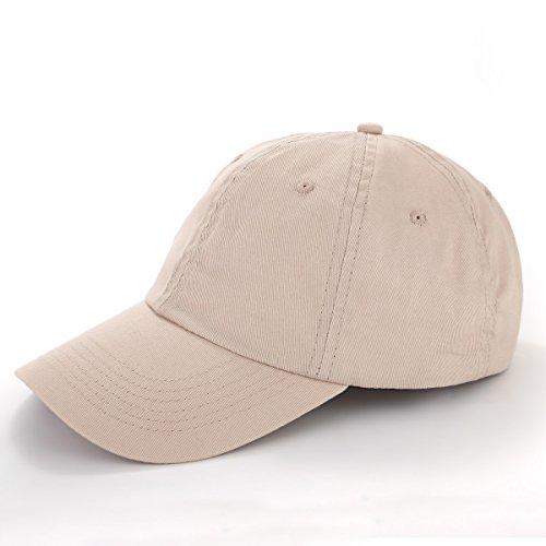 TARTINY Unisex Classic Plain 100% Cotton Baseball Cap, Low Profile Adjustable Curved Visor Hat For Men & - Baseball Visor Cotton
