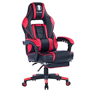 KILLABEE High Back PU Leather PC Racing Computer Desk Office Swivel Recliner