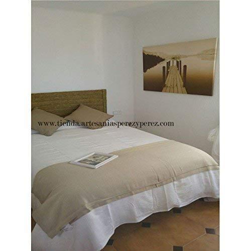 Cabecero de cama de esparto natural (elegir medidas)