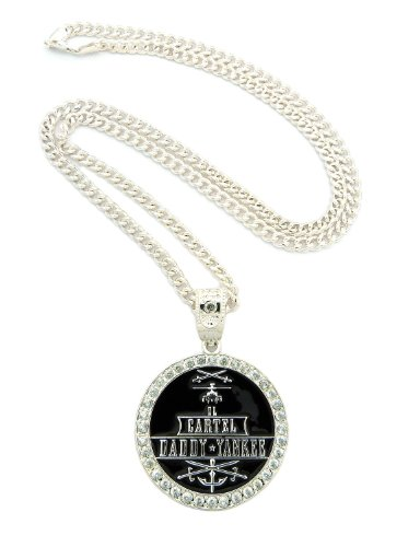 195f44551d3ed New Iced Out CARTEL DADDY YANKEE Pendant &36
