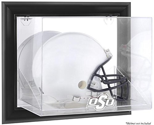 (Oklahoma State Cowboys Black Framed Wall Mountable Helmet Display Case)