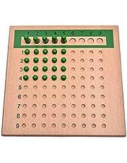 Daseey Brinquedos de ensino de matemática montessoriana para crianças Multiply tabuleiro divisor brinquedo de matemática contas coloridas de madeira brinquedo educacional inicial