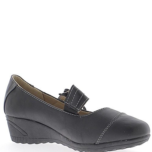 Chaussures femme noires confort talon compensé de 4 cm