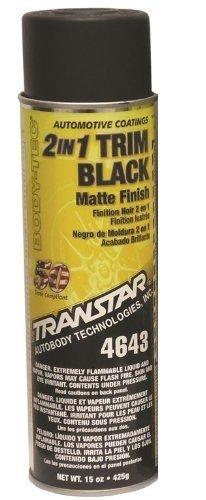 Transtar 4643 Matte Black 2-in-1 Trim Coating - 15 oz.