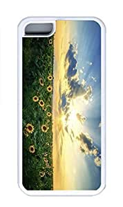 taoyix diy iPhone 5C Case, Personalized Custom Rubber TPU White Case for iphone 5C - Sunshine Flowers Cover