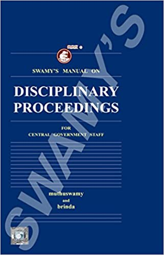 Buy Swamy's Manual on Disciplinary Proceedings for Central