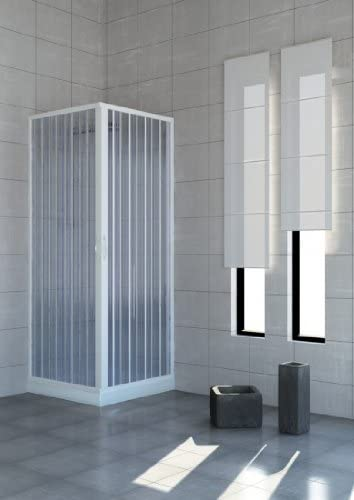 Mampara de ducha plegable en policloruro de vinilo (PVC), 2 lados ...