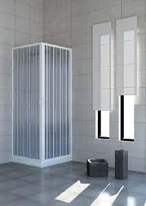 Cabina de ducha con puertas plegables–PVC–2lados–70x 100cm.
