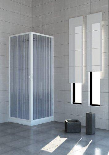 Box doccia in pvc a soffietto   2 lati 75x75 cm: amazon.it: fai da te