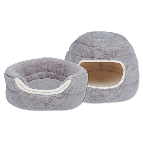 Slumber Pet Cuddler Beds – Soft and Ultra-Comfortable Beds for Cats and Small Dogs – 16 D x 12 H, Dove