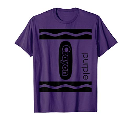 Purple Crayon Halloween Couple Friend Group Costume T-shirt]()