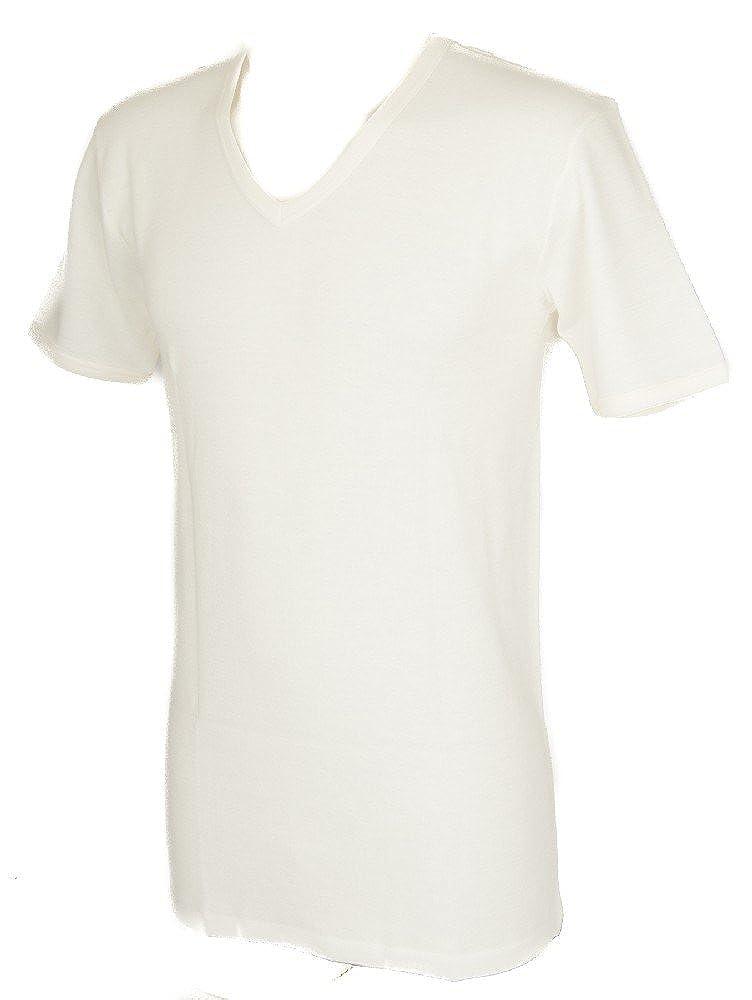 TG.6 3 canotte uomo spalla larga GARDA 100 /% cotone pettinato bianco art.0021