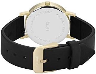 CLUSE La Roche Petite Gold Black Marble Black CL40102 Women's Watch 33mm Leather Strap Minimalistic Design Casual Dress Japanese Quartz