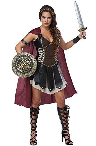 California Costumes Women's Glorious Gladiator Adult Woman, Black/Burgundy, Extra -