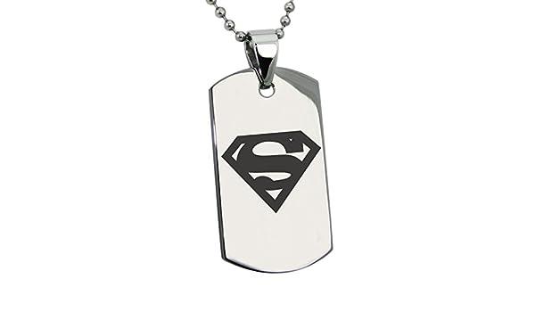 Jacmel Jewelry Colgante de Acero Inoxidable DC Superman en Cadena ...