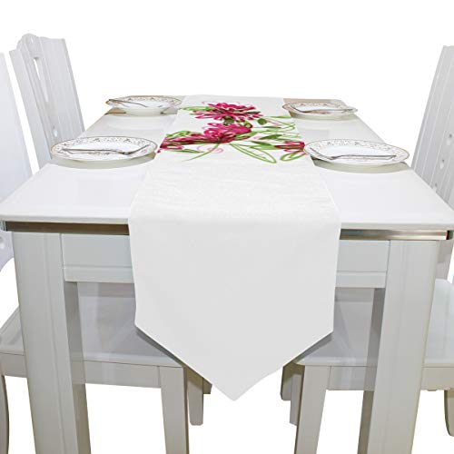 Table Cover Elegant Popular Style Letter E Modern Table Runner Decorative Table Cloths for Kitchen Indoor Coffee Table Home Table Covers Table Overlays 13x90 Inch -