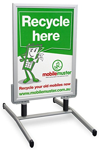 UPC 859479004909, Displays2go Wind Sign Stand Is Double Sided with Snap Frames for Accommodating 23 x 33 Inches Posters - Aluminum Construction (SS15A2333)