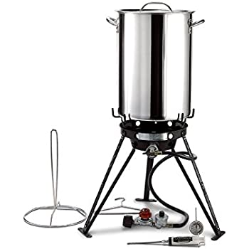 Eastman Outdoors 37069 30 Stainless Steel Professional Outdoor Cooking Set with CSA Shut Off