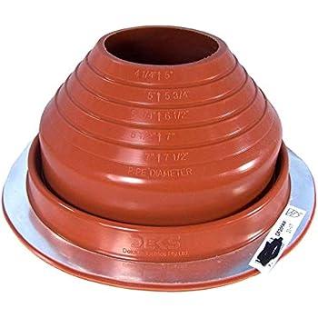 Dektite 5 Red Silicone Metal Roof Pipe Flashing High
