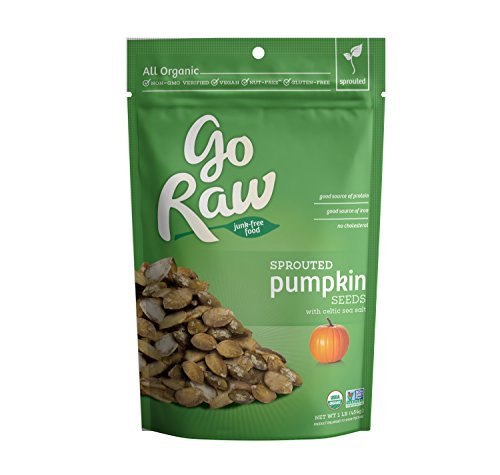 Go Raw Sprouted Pumpkin Seeds, 1 Pound Bags (Pack of 2)