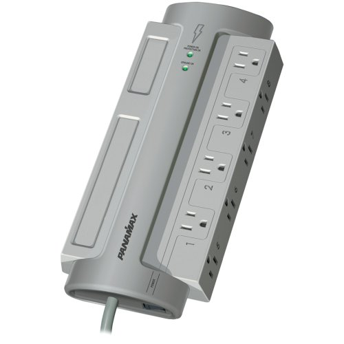 Panamax PM8-EX 8-Outlet PowerMax(R) PM8-EX Surge Protector (Without Satellite & CATV Protection)
