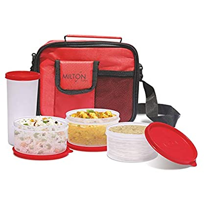 e691965d6ee3 Milton Meal Combi Plastic Lunch Box, Red