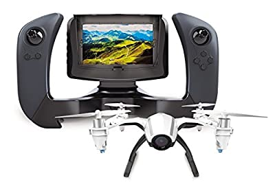 "UDI SAVA U28-1 FPV Drone with Camera – Remote Control Drone Quadcopter with Altitude Hold, WiFi HD Camera and 4"" LCD Screen - Great RC Drone for Kids or Beginners - Extra Battery Doubles Flight Time from SAVA"