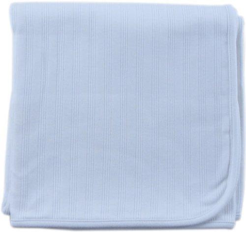 Hudson Baby Organic Receiving Blanket, Blue