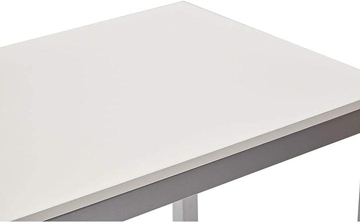 La Seggiola Tavolo Allungabile in Metallo Piano Nobilitato 110//165x70cm Majestic Bianco