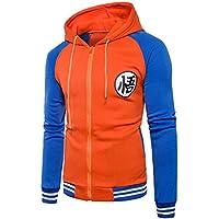 Japanese Anime Dragon Ball Z Goku Symbol Zip Hoodies Sweatshirt Costumes