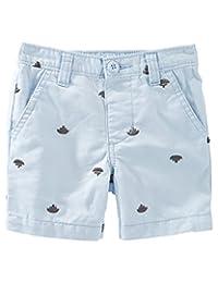 OshKosh B'gosh Baby Boys' Schiffli Flat Front Shorts, 6 Months