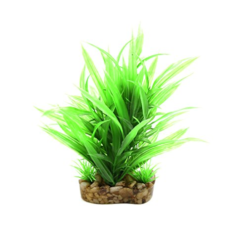 uxcell Green Plastic Leaves Plant Aquarium Terrarium Landscaping Decor for Reptiles and Amphibians