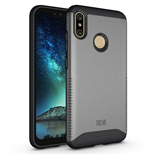 BLU VIVO XI+ Case, TUDIA Slim-Fit Heavy Duty [Merge] Extreme Protection/Rugged but Slim Dual Layer Case for BLU VIVO XI+ [NOT Compatible with VIVO XL4] (Metallic Slate)