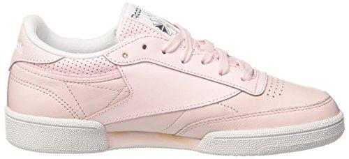 Donna Metallic Fbt Pink silver Rosa C Reebok porcelain Club 85 skull Grey white Sneaker xtwPwXq6