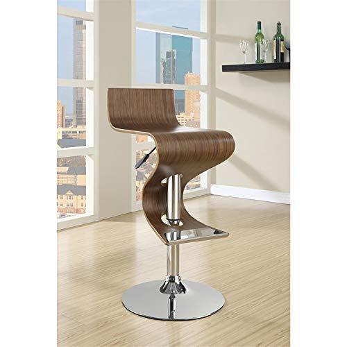 Coaster Home Furnishings CO- Adustable Bar Stool, Walnut