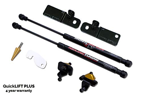 Redline Tuning 21-11030-02 Hood QuickLIFT PLUS Bolt-in Struts (All Black Components, 4 year warranty) Compatible for Ford Mustang Shelby GT350